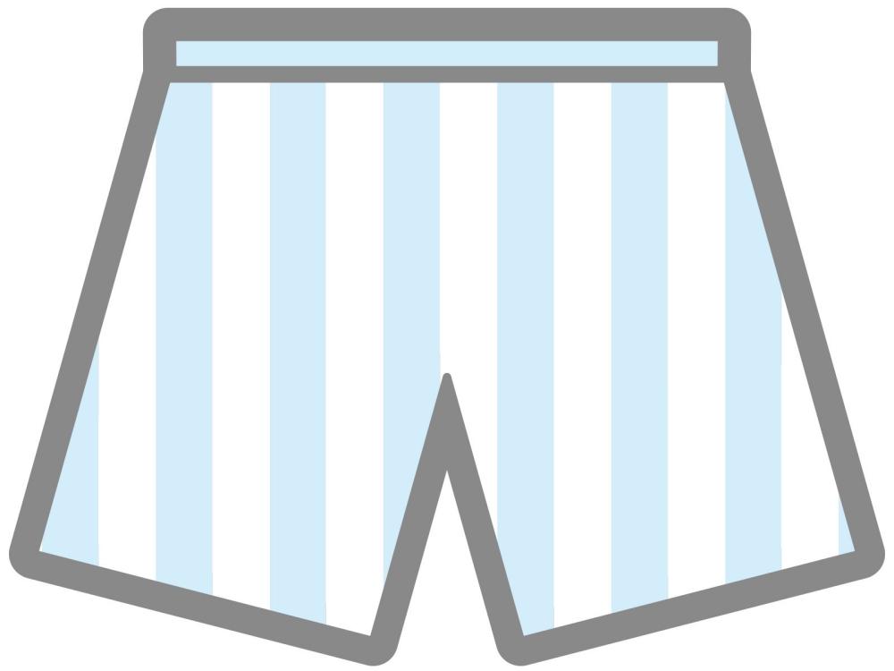 青と白のシマシマパンツ