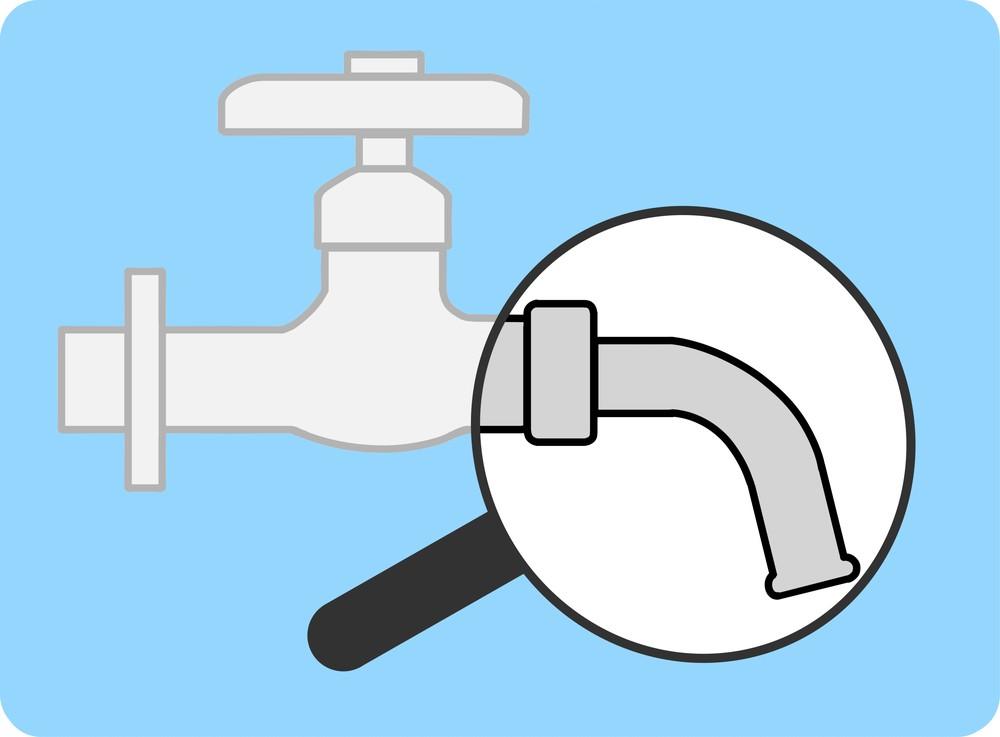 水道の蛇口のパイプ