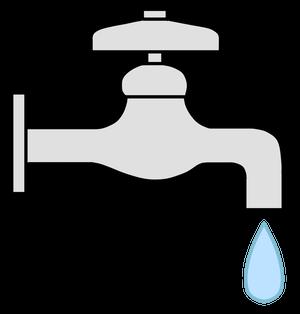 イラストフリー素材 蛇口と水