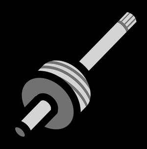 イラストフリー素材 蛇口 スピンドル2