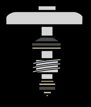 イラストフリー素材 蛇口 ハンドルパーツ