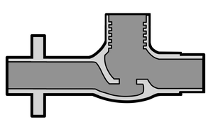 イラストフリー素材 蛇口 接続部断面図