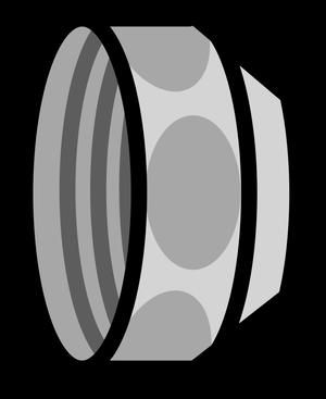 イラストフリー素材 蛇口 ナット2