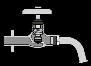 イラストフリー素材 蛇口 断面図