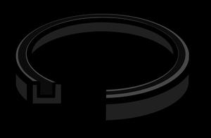 イラストフリー素材 蛇口 Uパッキン断面図