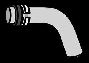 イラストフリー素材 蛇口 パイプとリング