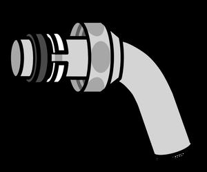 イラストフリー素材 蛇口 パイプとナット
