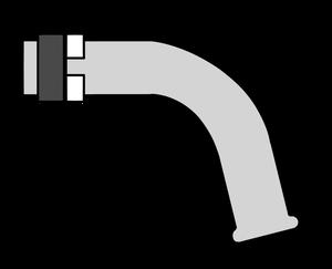 イラストフリー素材 蛇口 パイプとリング横