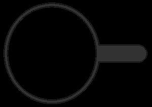 イラストフリー素材 蛇口 虫眼鏡