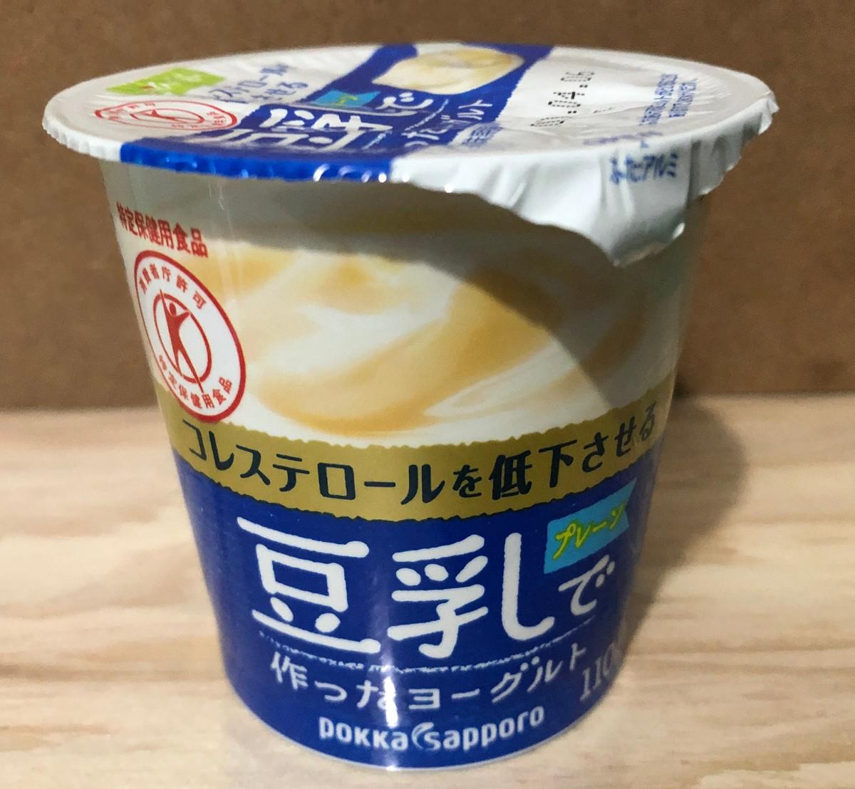 4つの気になる飲食料豆乳ヨーグルト