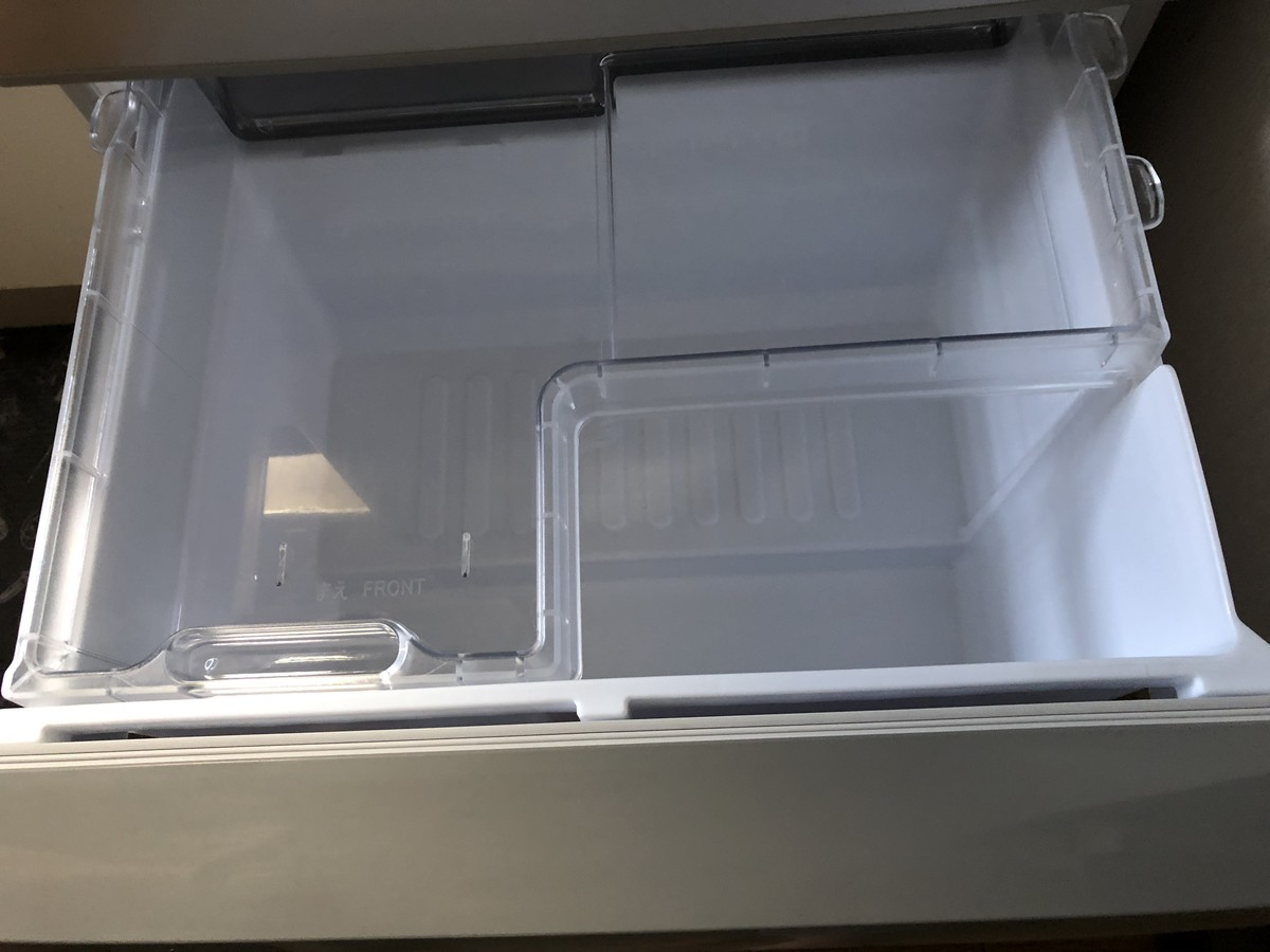 中古冷蔵庫の野菜室