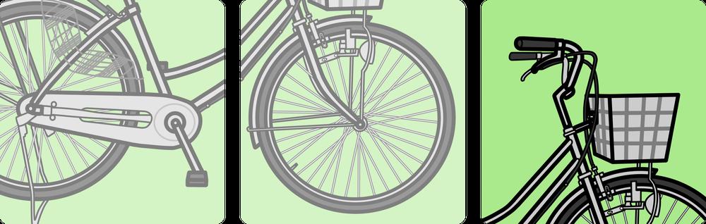 自転車のハンドルの説明