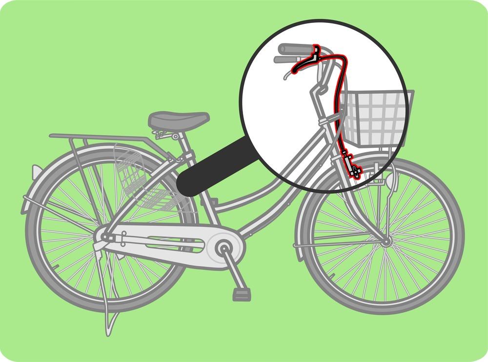 自転車の右ブレーキ解説