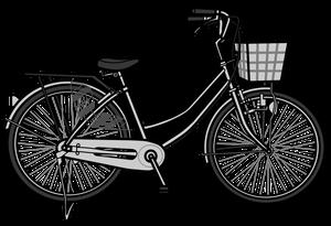 イラストフリー素材 自転車