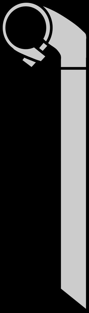 イラストフリー素材 ハンドルステム(横)