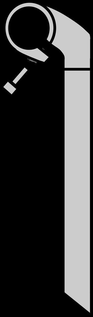 イラストフリー素材 ハンドルステムとクランプボルト