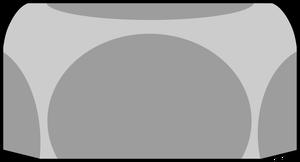 イラストフリー素材 ロックナット(横)