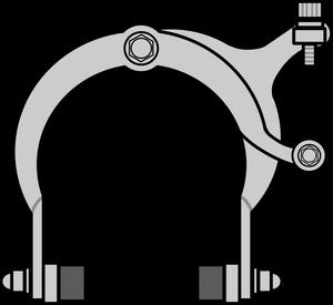 イラストフリー素材 リムブレーキ