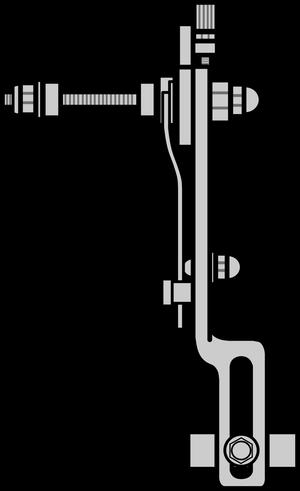 イラストフリー素材 リムブレーキ(横)