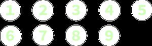 イラストフリー素材 自転車図解 数字
