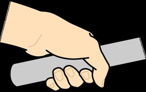 イラストフリー素材 ハンドルバーを握る