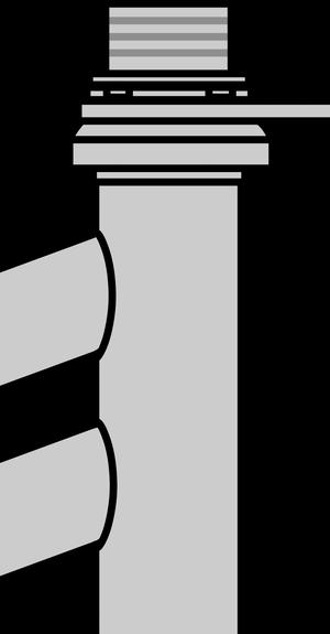 イラストフリー素材 ステム接続部