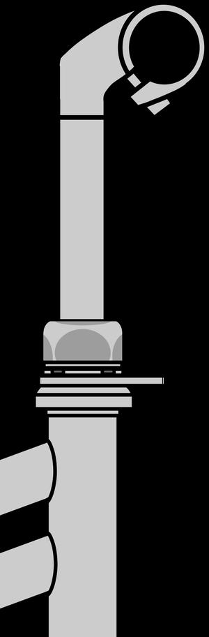 イラストフリー素材 ハンドルステムとフレーム