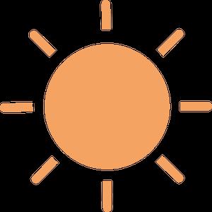 イラストフリー素材 太陽