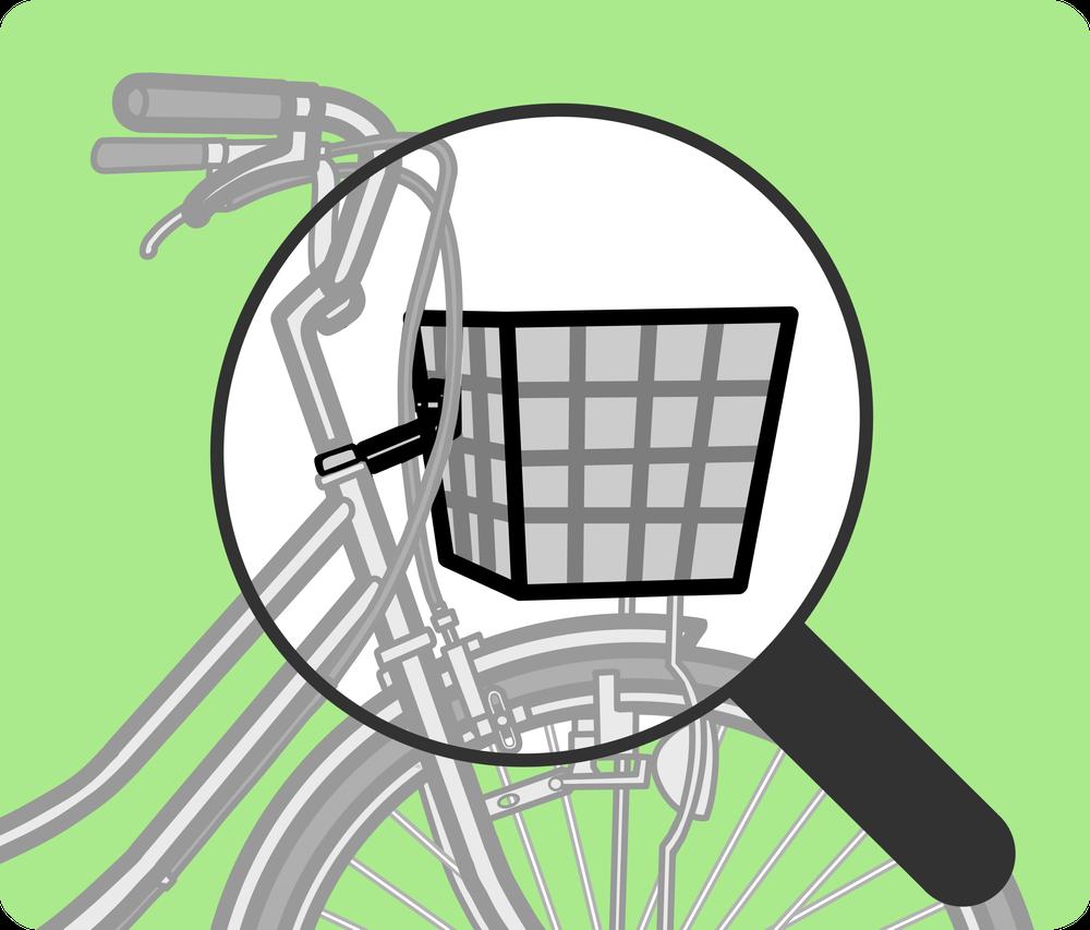 自転車の仕組み図解 カゴ周辺
