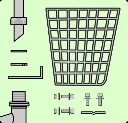 自転車の仕組み図解 カゴ周辺パーツ