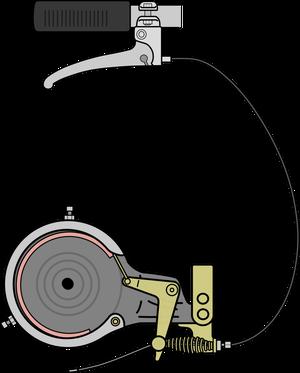 自転車イラストフリー素材 ブレーキレバー・ケーブル・バンドブレーキ