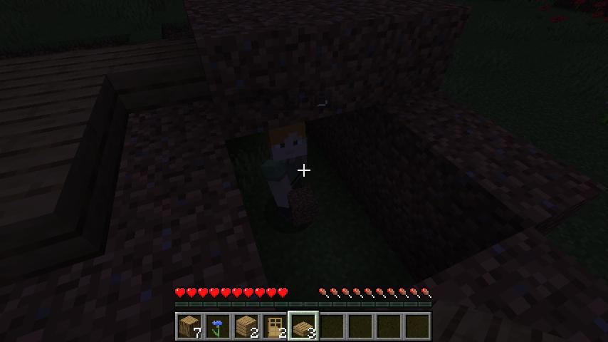 Minecraft(マイクラ)土のカベ