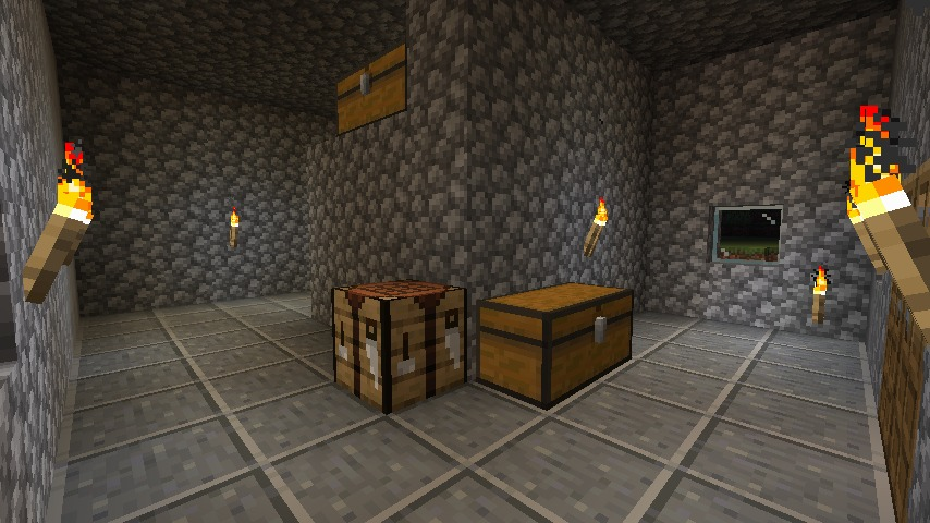 Minecraft(マイクラ)石を敷く
