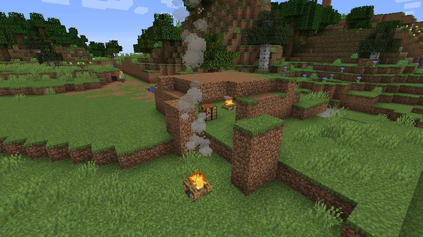 Minecraft(マイクラ)ぶーぶーの土ハウス