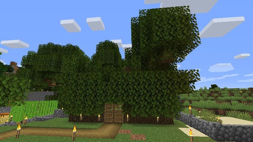 Minecraft(マイクラ)木の壁ハウス1