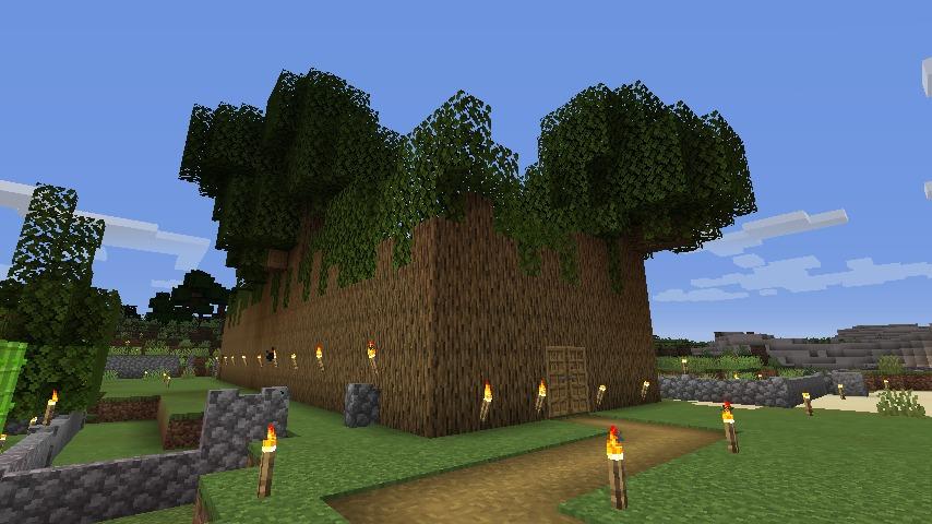 Minecraft(マイクラ)木の壁ハウス2