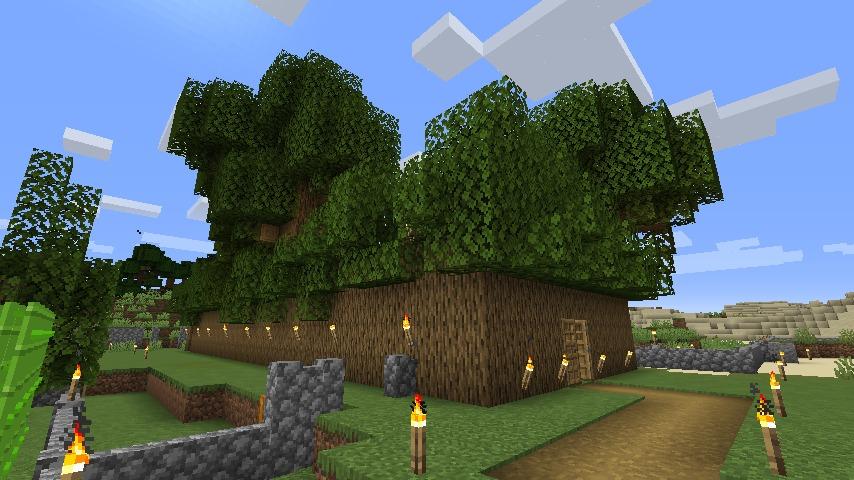 Minecraft(マイクラ)木の壁ハウス3