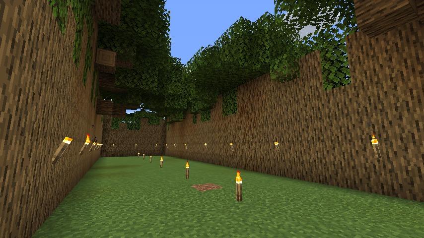 Minecraft(マイクラ)木の壁ハウス4