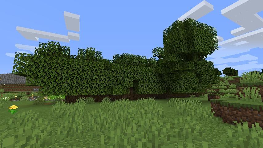 Minecraft(マイクラ)木の壁を生やす