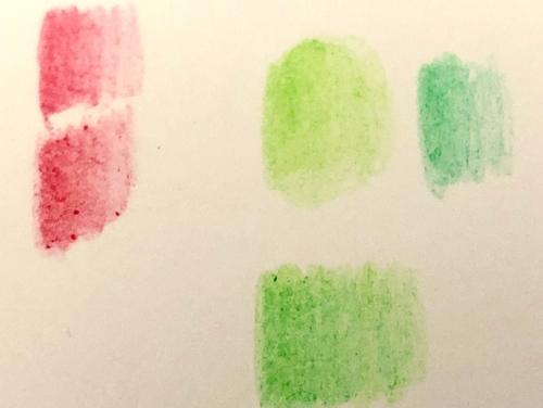 100均の色鉛筆 試し塗り