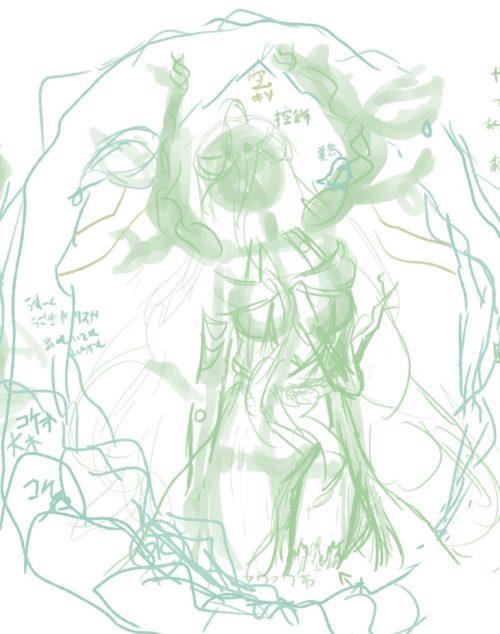 メイキング『木人(コビト)』構図3