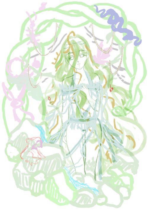 メイキング『木人(コビト)』ラフ描き込み3