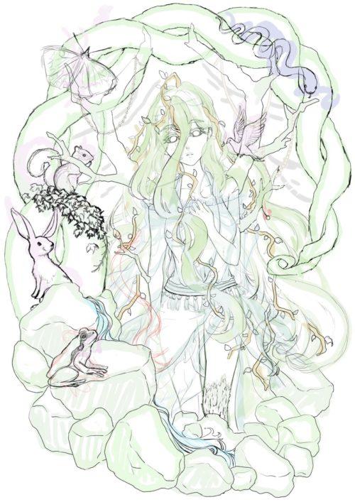 メイキング『木人(コビト)』下描き1