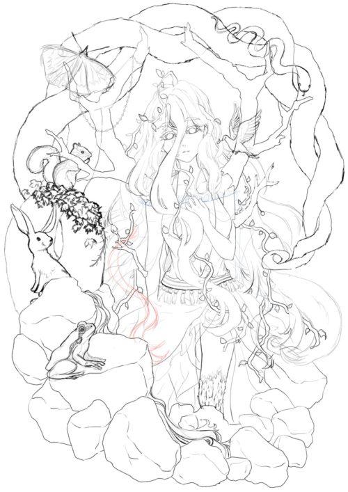 メイキング『木人(コビト)』下描き2