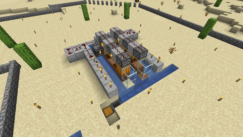 Minecraft(マイクラ)節約型カボチャ自動収穫機2