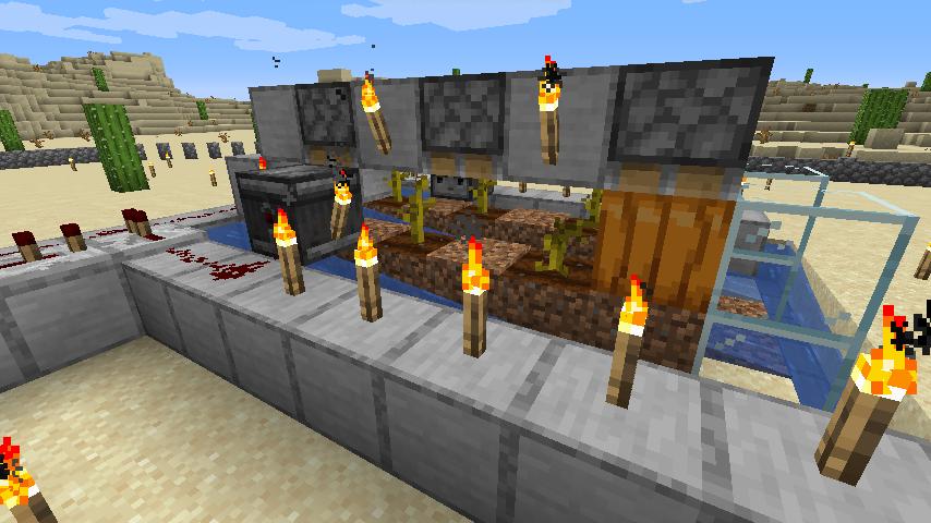Minecraft(マイクラ)節約型カボチャ自動収穫機3