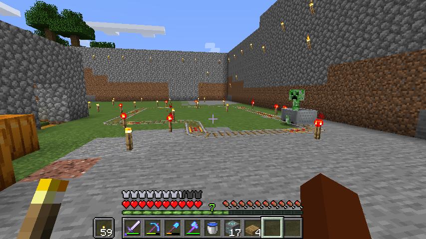 Minecraft(マイクラ)楽しそうなクリーパー