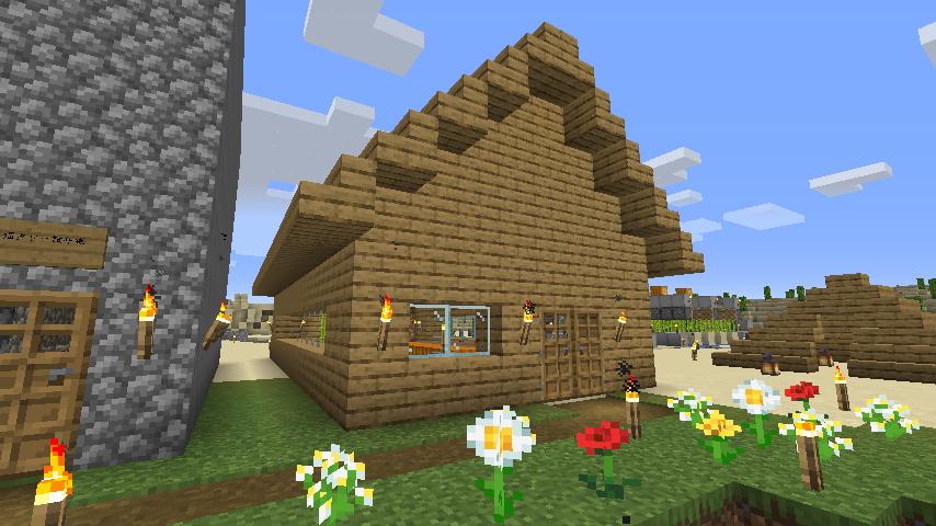 Minecraft(マイクラ)ピストンハウス2