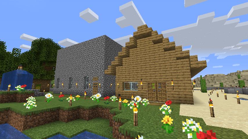 Minecraft(マイクラ)ピストンハウス完成