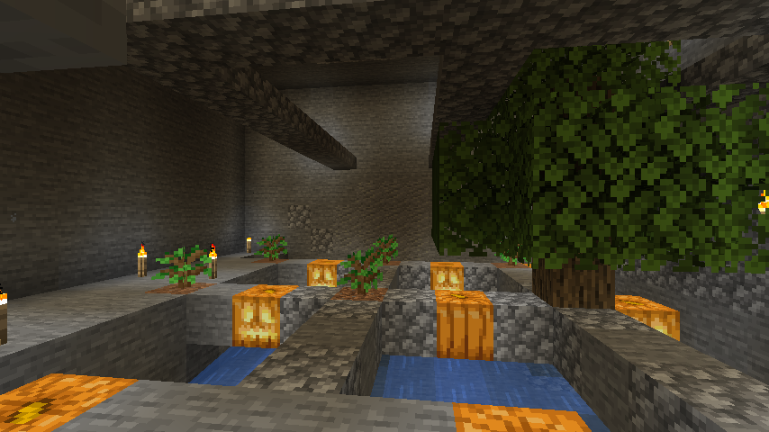 Minecraft(マイクラ)苗自動収穫所 試作